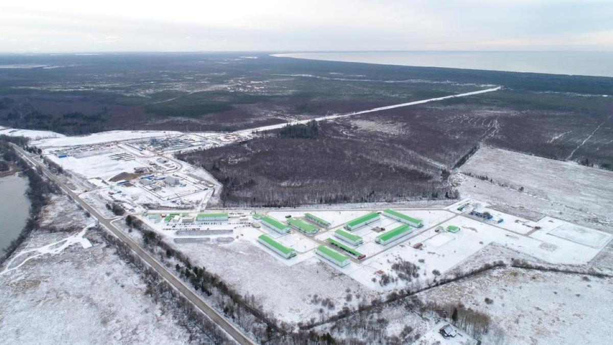 Северный поток-2 российский участок зима