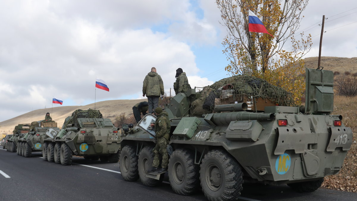 Нагорный Карабах российские миротворцы БТР