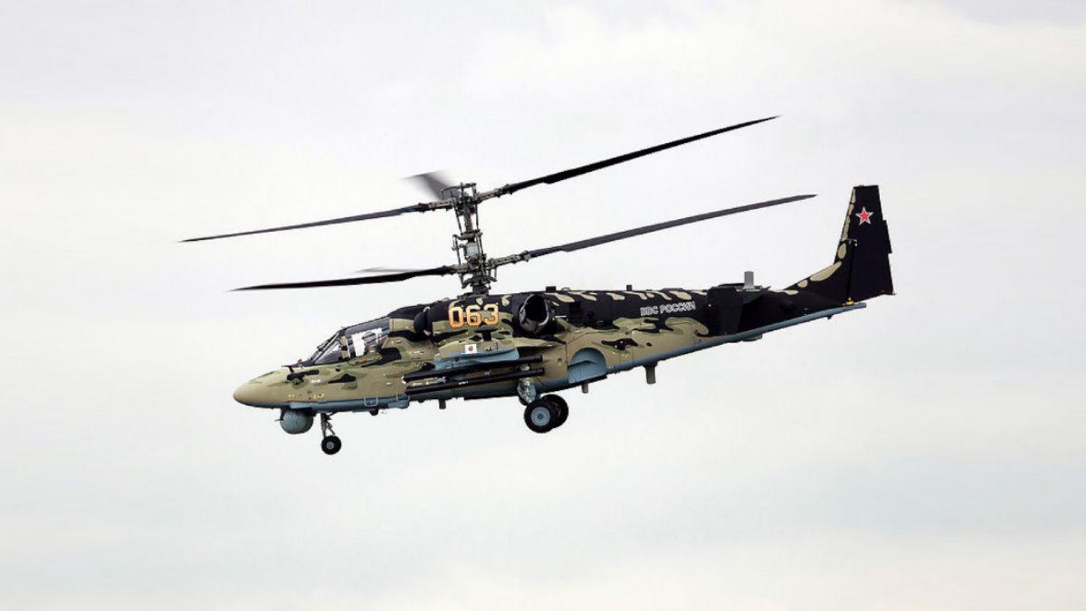Вертолёт Ка-52 Аллигатор три