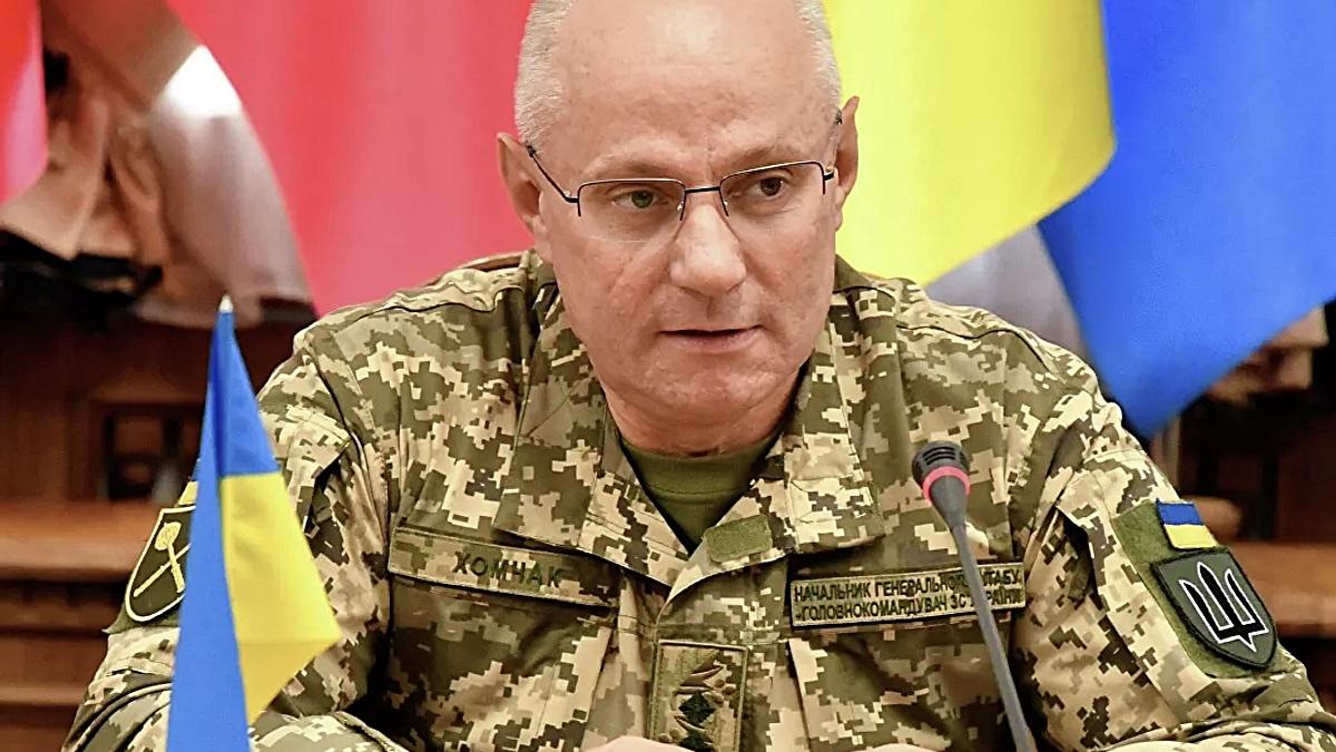 Главнокомандующий Вооруженными силами Украины генерал Руслан Хомчак