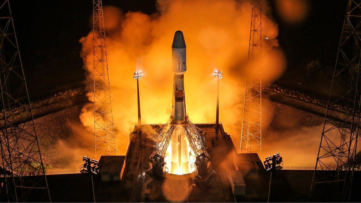 старт ракеты-носителя Союз-СТ
