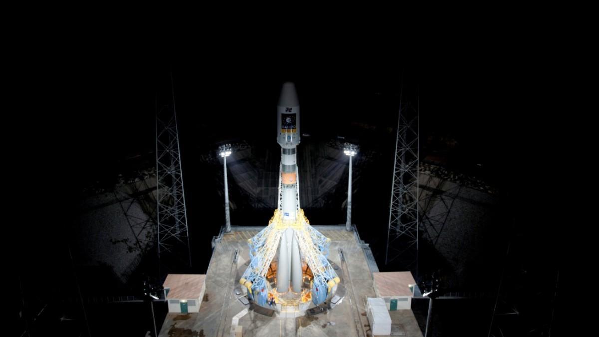 ракета Союз на космодроме Куру