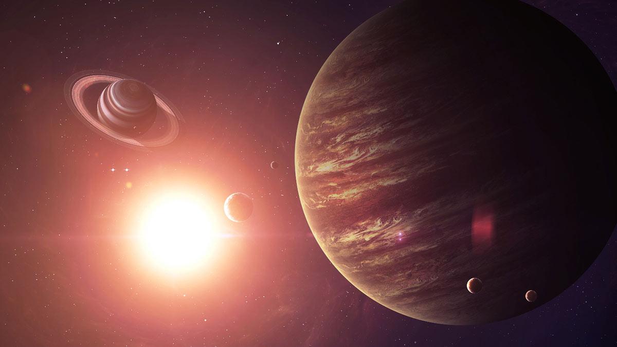 юпитер сатурн Солнечная система солнце космос