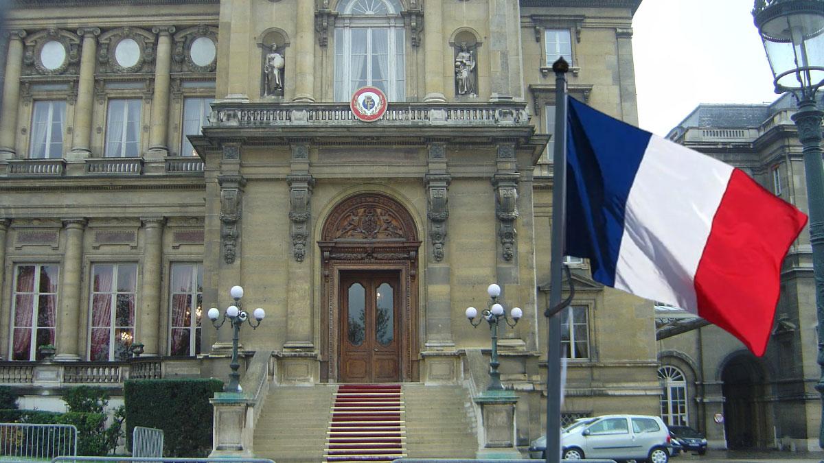 мид франции флаг здание