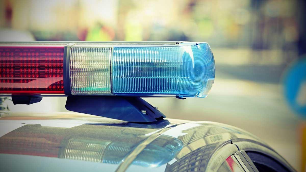 мигающие огни полицейской машины
