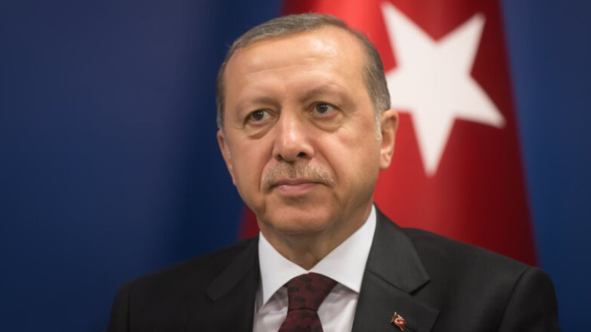 Президент Турции Реджеп Тайип Эрдоган один