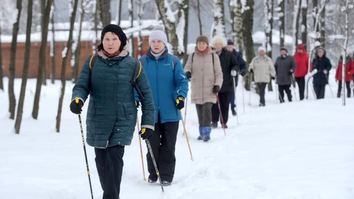 Быстрая ходьба долголетие спорт зима