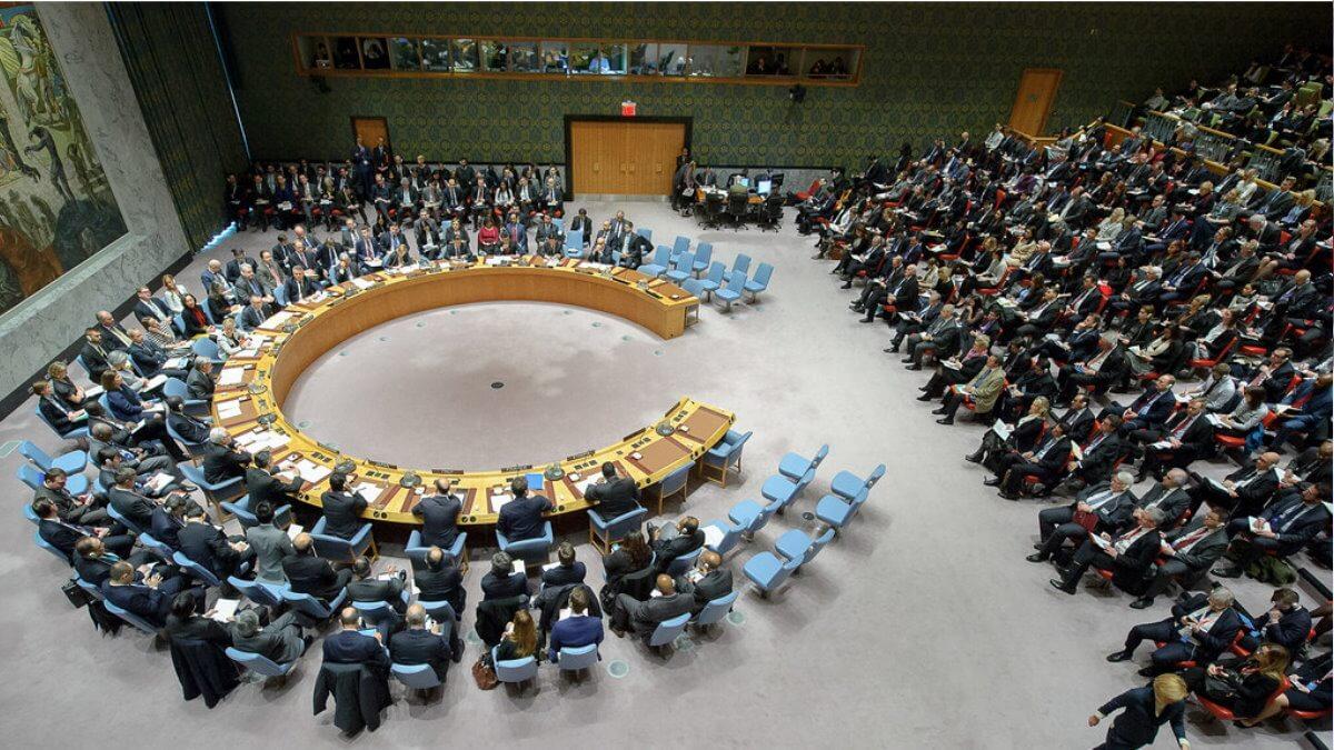 Заседание Совбеза ООН Совета Безопасности три
