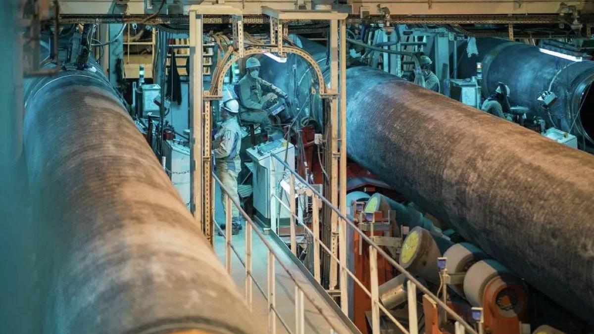 Северный поток-2 строительство газопровода производство труб