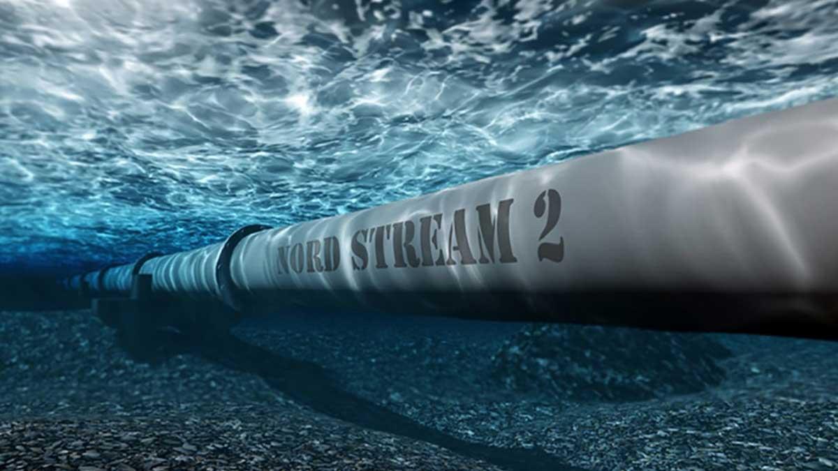 газопровод Северный поток 2 под водой