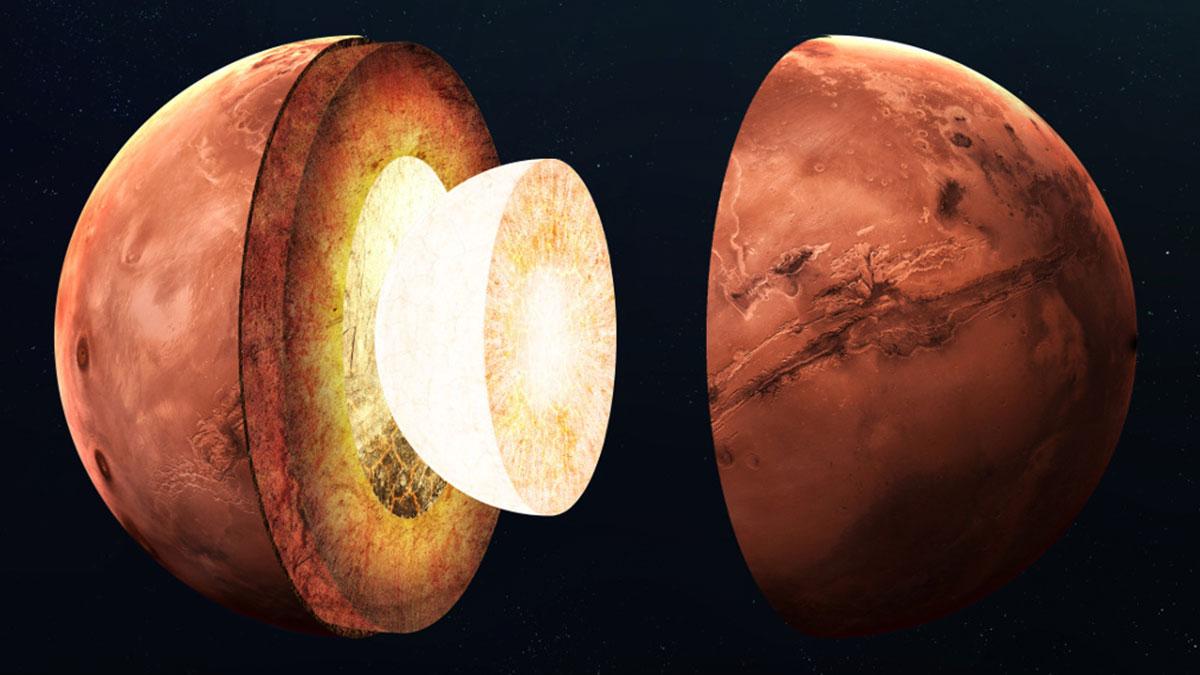 марс планета в разрезе ядро