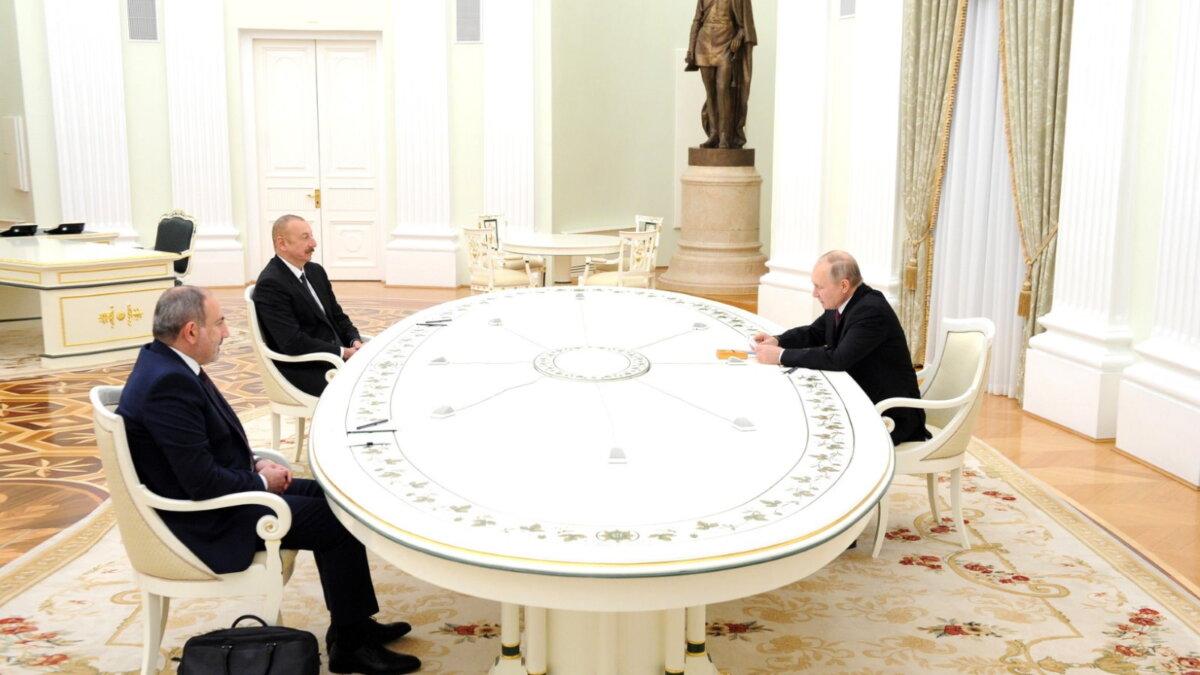 Никол Пашинян - Ильхам Алиев - Владимир Путин