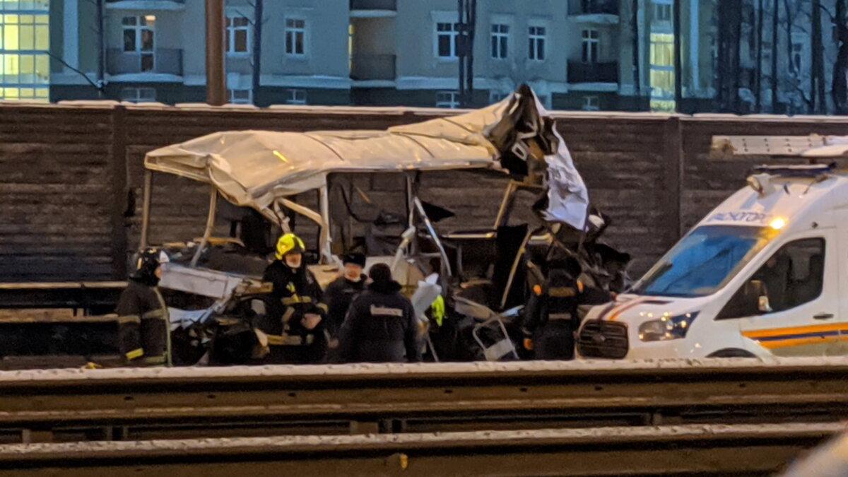 ДТП с военными автобусами на Новорижском шоссе два