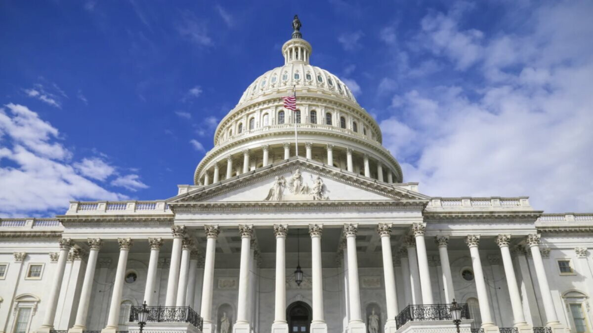 Капитолий сенат конгресс США здание три