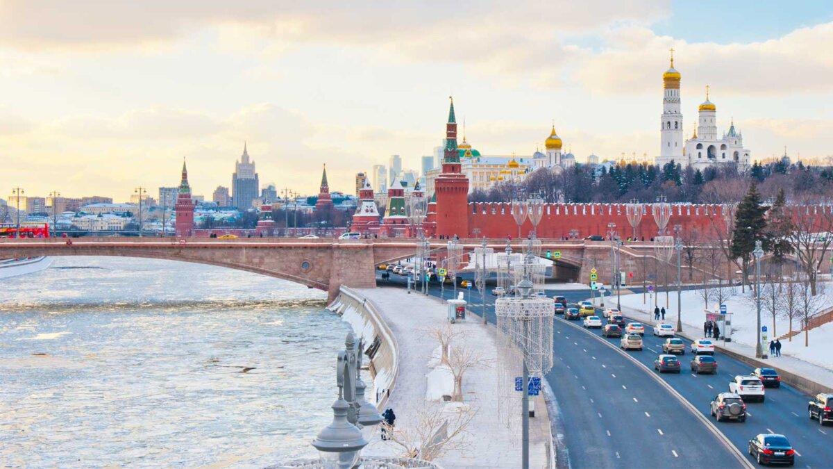 Москва река и Кремль Moscow Kremlin and Moskva river Winter