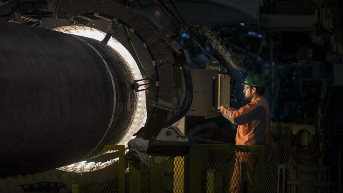 Труба Северный поток-2 газопровод сварка два