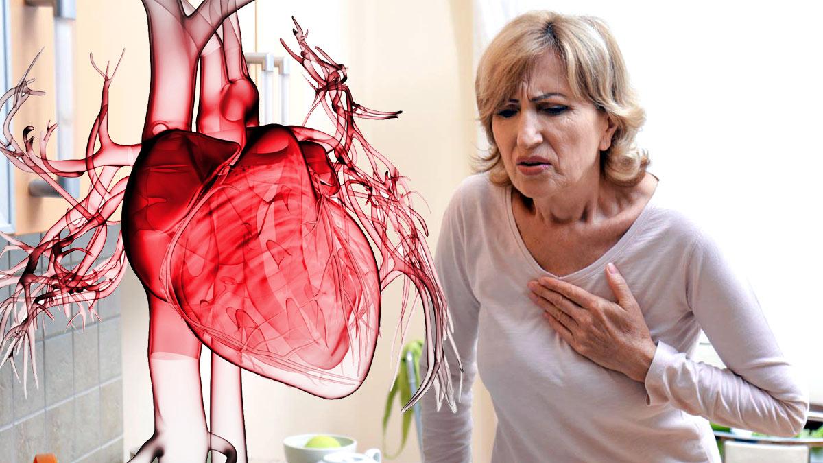 женщина боль в груди сердечный приступ сердце