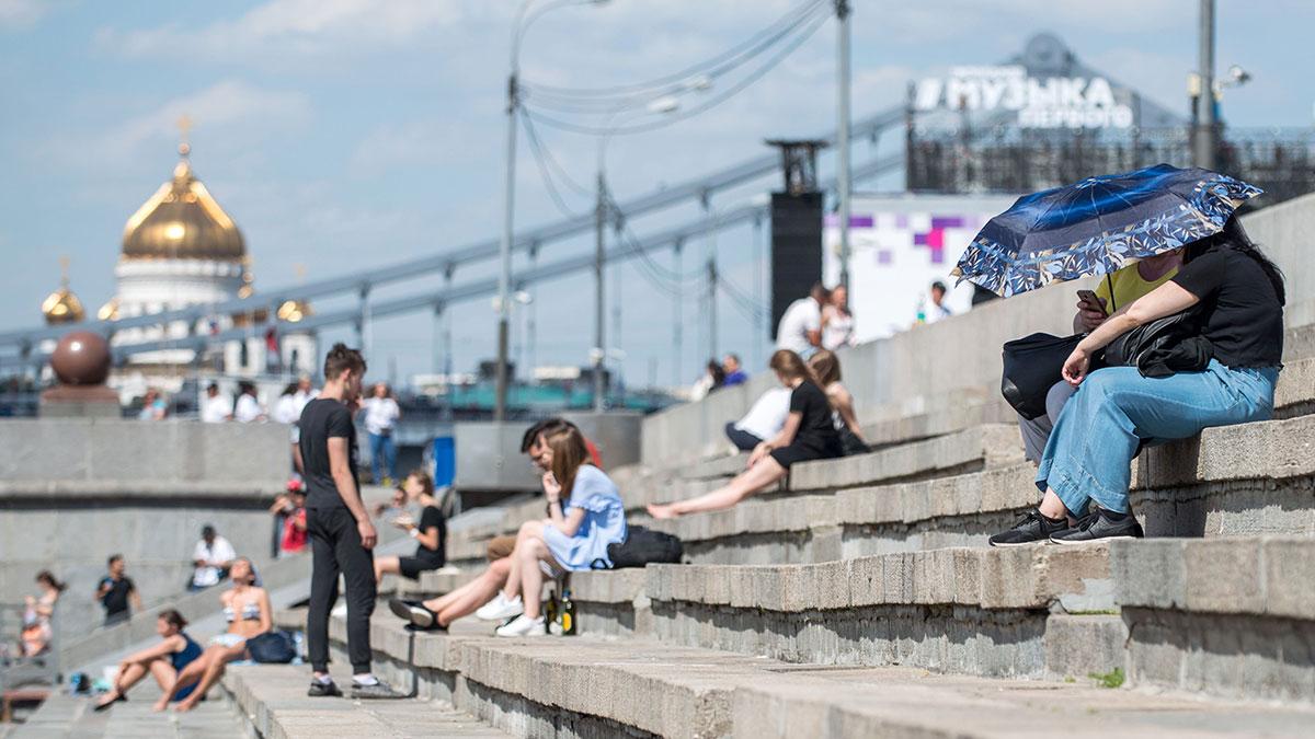 жара в москве лето город пекло солнце
