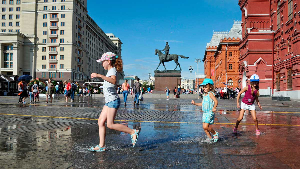 Москва лето жара