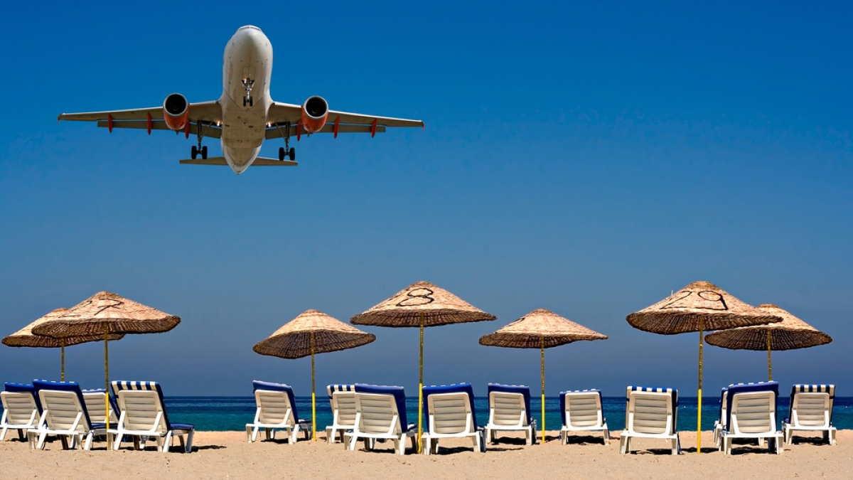 Самолёт курорт пляж