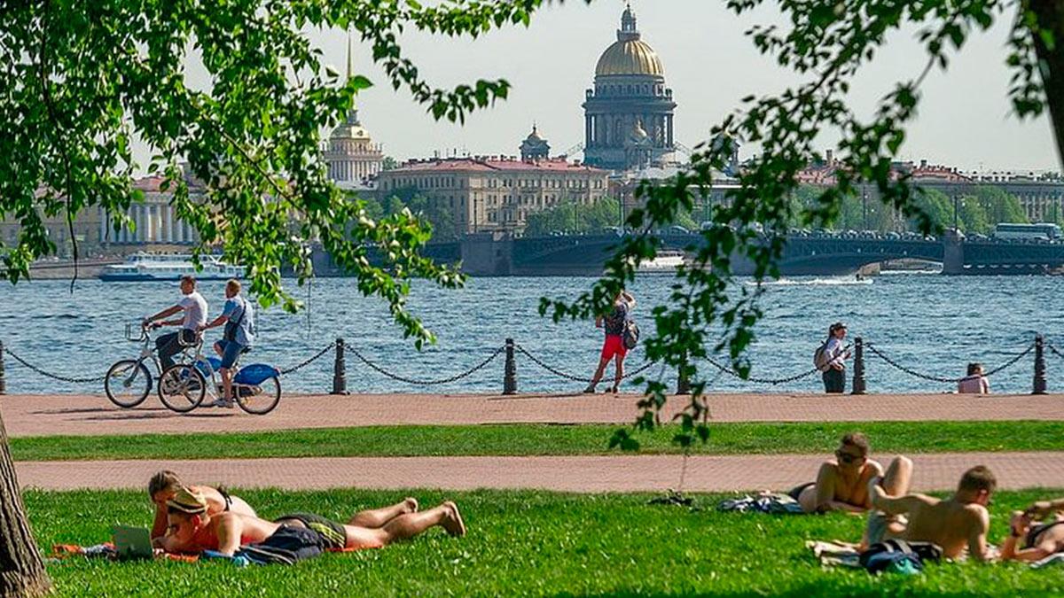 Санкт-Петербург жара