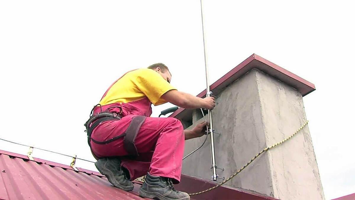 Заземление крыши молниеотвод