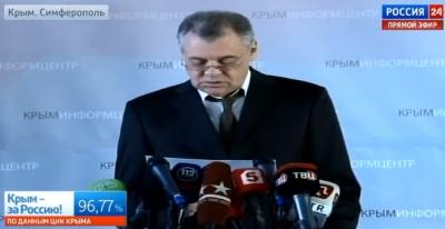 Глава избиркома Крыма огласил итоги референдума